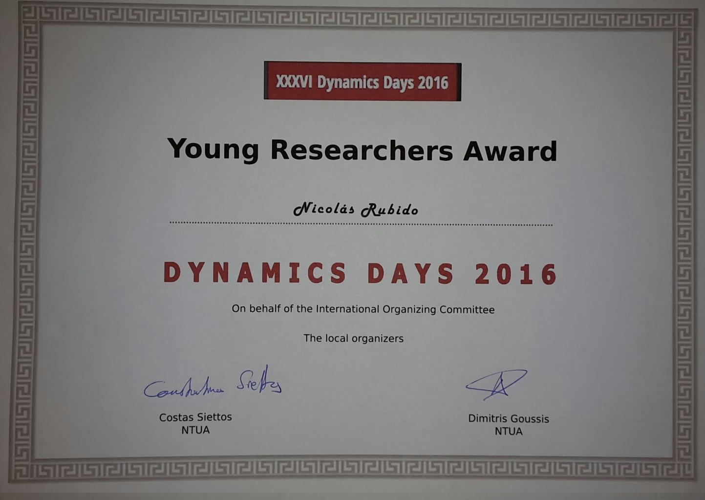 YoungResearchersAward_DDaysEurope2016